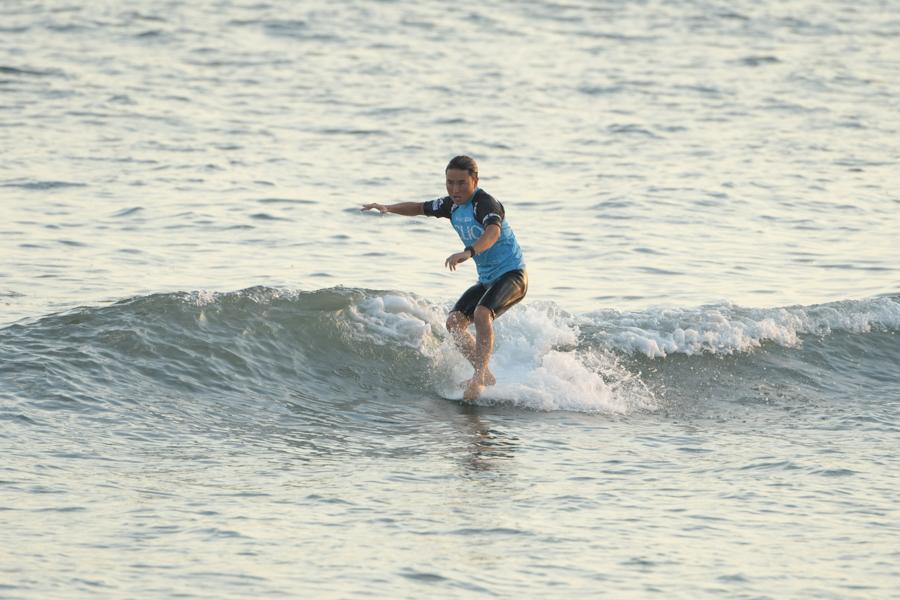 圧倒的なサーフィンを見せた浜瀬海