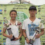 安室丈と松田詩野が優勝。ストーミーなコンディションで行われた「南房総ジュニアプロ」大会最終日