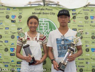 優勝した松田詩野と安室女。