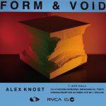 アレックス・ノストによる個展「FORM & VOID」が品川のT-ART HALLで開催決定!