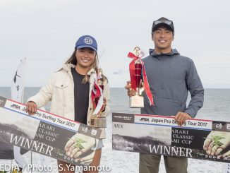 優勝した加藤嵐と西元ジュリ