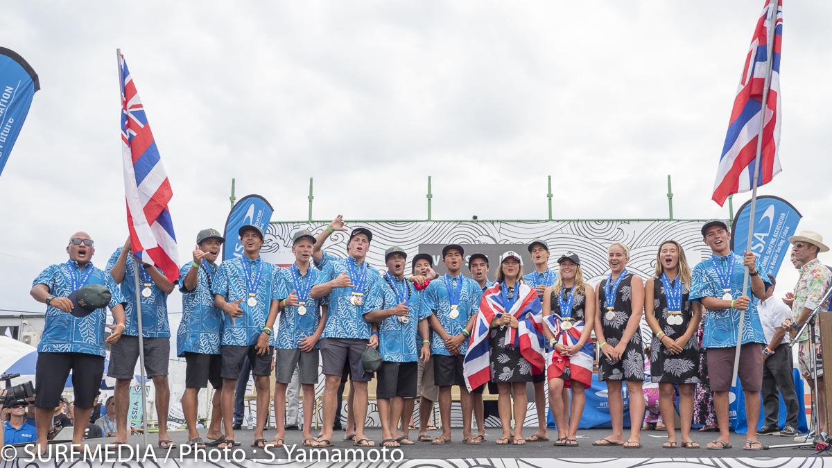 団体銀メダルのハワイ