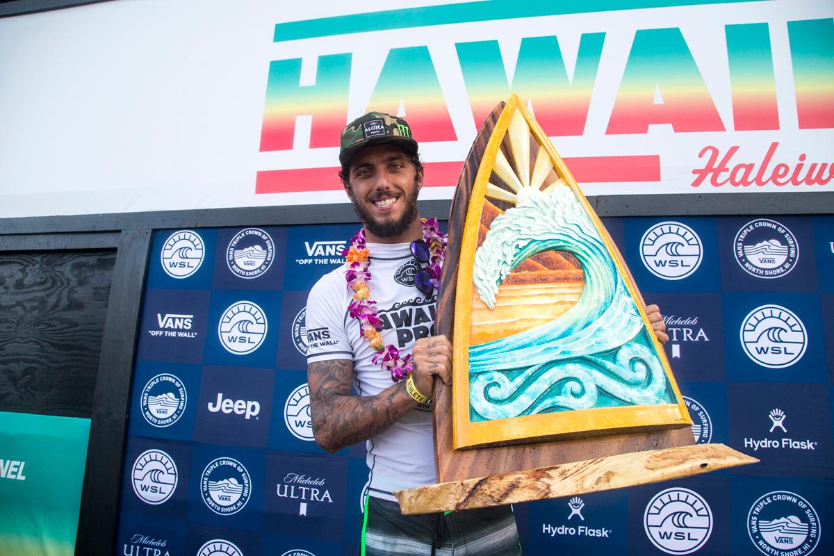ハワイで初優勝のトリード。WSL / Keoki Saguibo