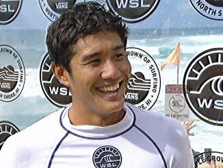 笑顔でヒーローインタビューに答える喜納海人