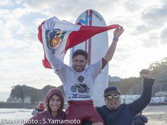 優勝したペルーの元世界チャンピオン、ピッコロ・クレメンテ