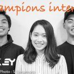 加藤嵐、都筑百斗、永井那旺。3名を勝利へと導いたのは何か。3チャンピオンズ・インタビュー