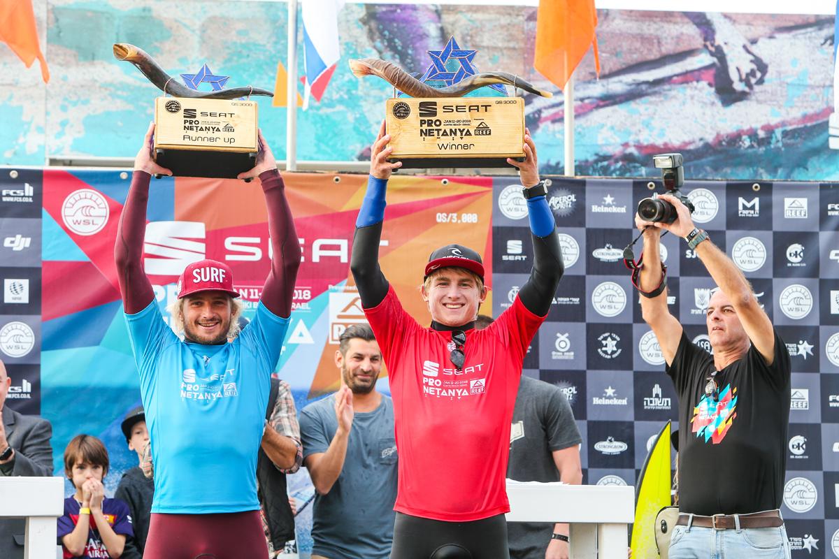 優勝したマシュー・マギリヴレイ(ZAF)とフランスのチャーリー・マーティン(FRA)WSL / Masurel