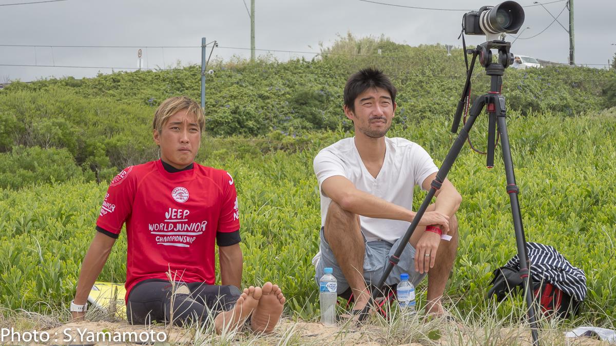 安室丈とコーチの田中樹