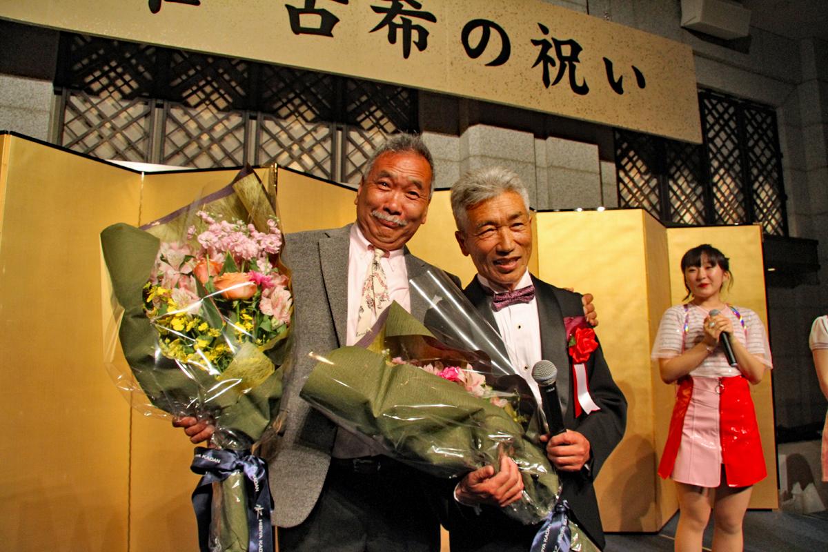 ドジさんこと井坂 啓己氏も今月70才を迎え、喜びを共有した。