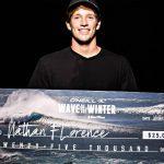 ジョン・ジョンの弟ネイザン・フローレンスが Wave of the Winterで優勝。賞金2万5千ドルをゲット。