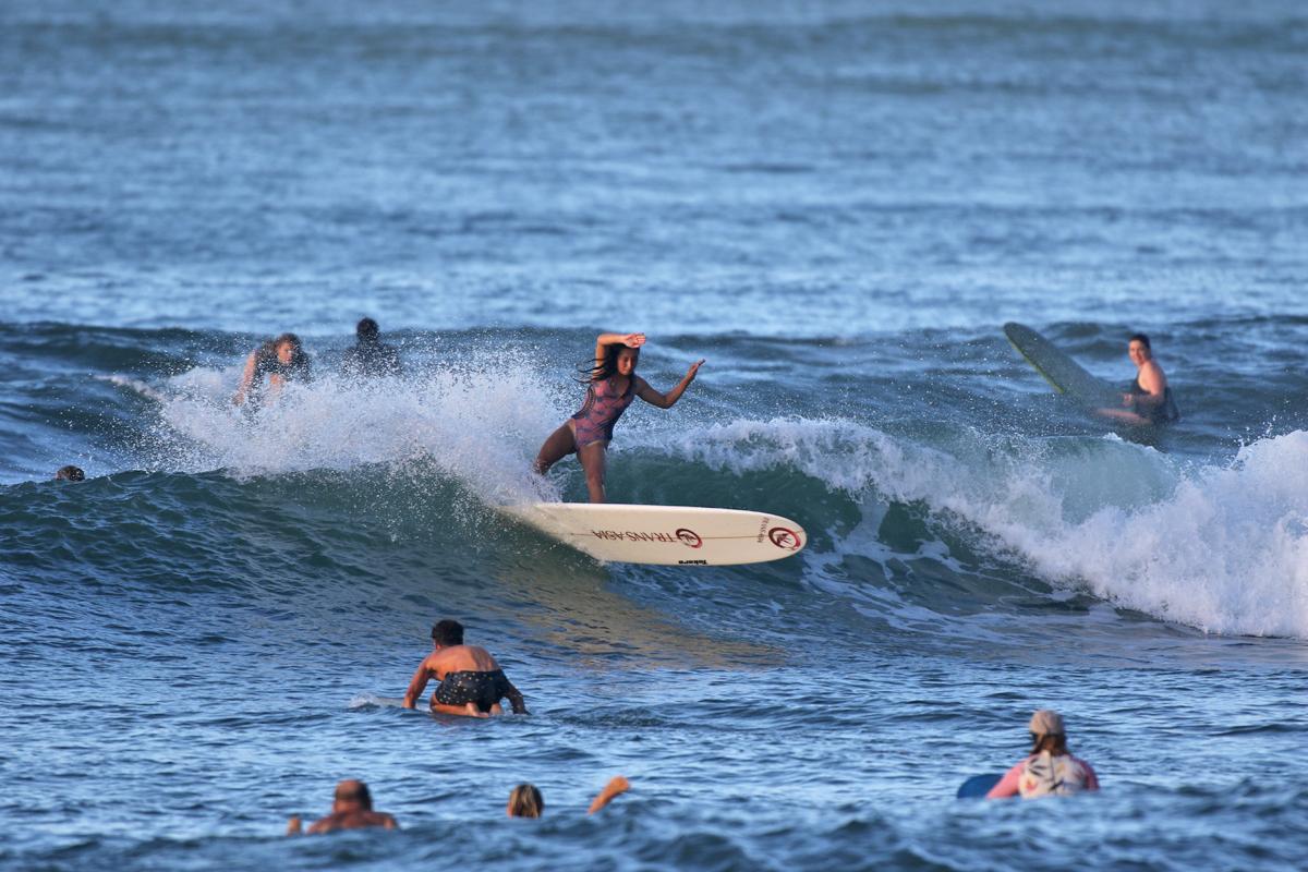 ヌーサの試合前はこんな風に波がすっごく良かった。ありがちだけど本番はj膝波。サイズ激減。