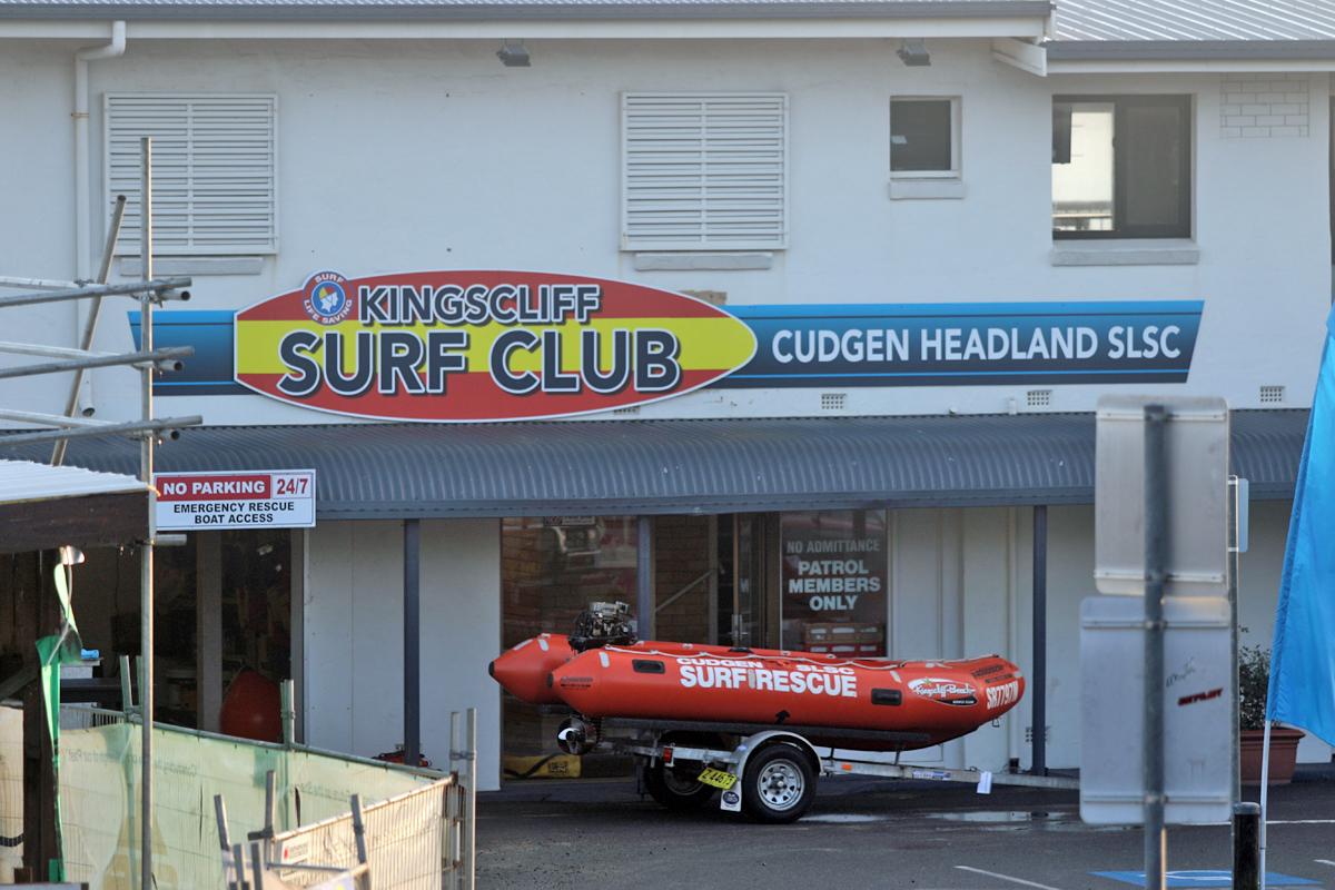 キングクリフのビーチフロントには行政が運営するサーフクラブがある。どうりでオージーが世界のサーフシーンでオージーが強いわけだ。