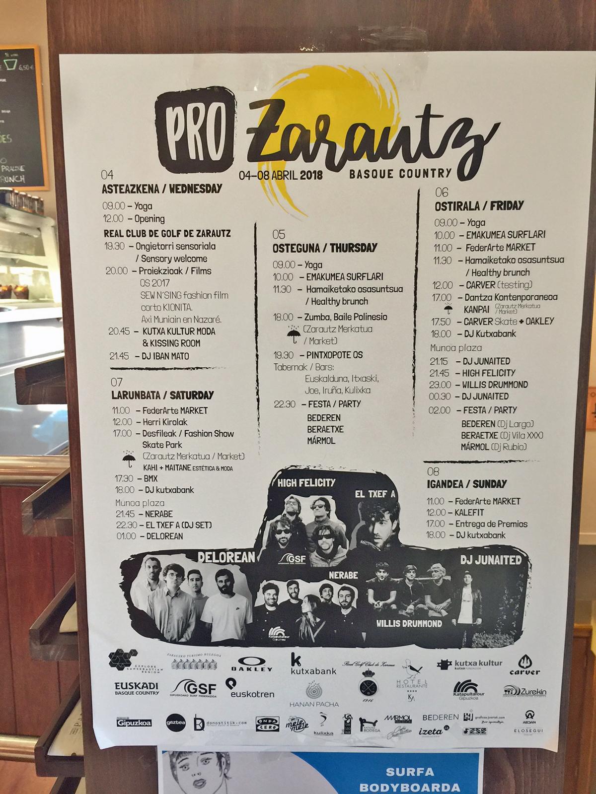 Pro Zarautzはコンテストだけでなく、ライブやヨガ、ファッションショーなど他のイベントも盛りだくさん。シーズンの始まりを祝う、ひとつのお祭りなのです