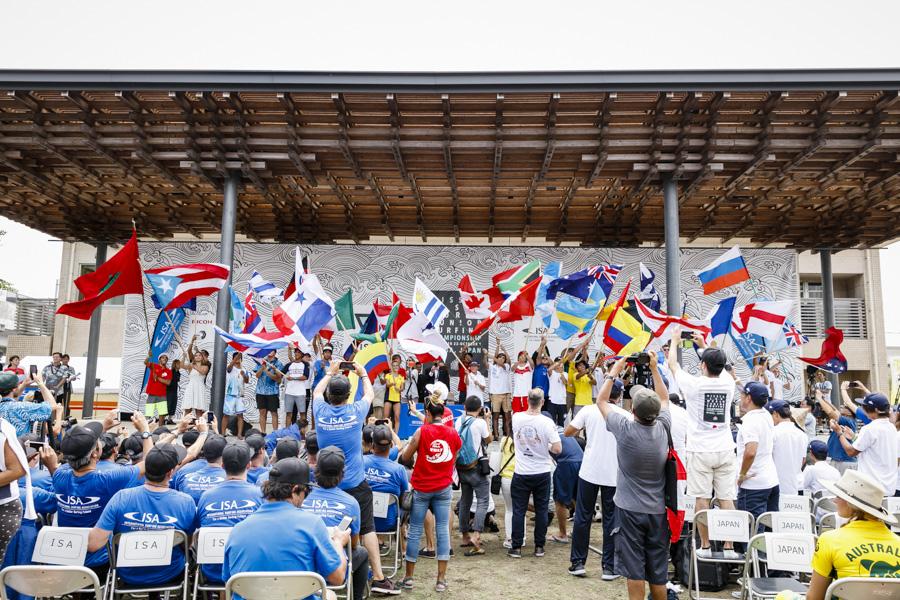 2017年ワールドジュニアサーフィンゲームス 日向大会 開会式の様子