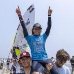 15歳の松田詩野がタヒチのポプキを破り今季初優勝。U12では岩見天獅が優勝。一宮千葉オープン最終日