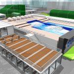 大井町駅から徒歩5分。複合スポーツパークに世界有数のドイツメーカーの人工サーフィン場が今夏オープン。