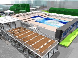 複合スポーツエンタテイメント施設「スポル品川大井町」に誕生するサーフィン施設