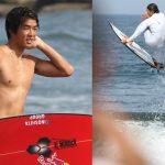五十嵐カノアが緊急来日。オリンピック会場の志田下の波を確かめサーフボードをチューンナップ。