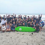 東京オリンピック・パラリンピックに向けたサーフィン体験会が千葉県一松海岸で開催された。