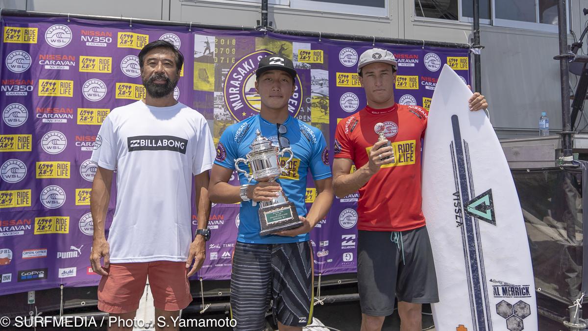優勝した安室丈と2位のジョーダン・ローワー
