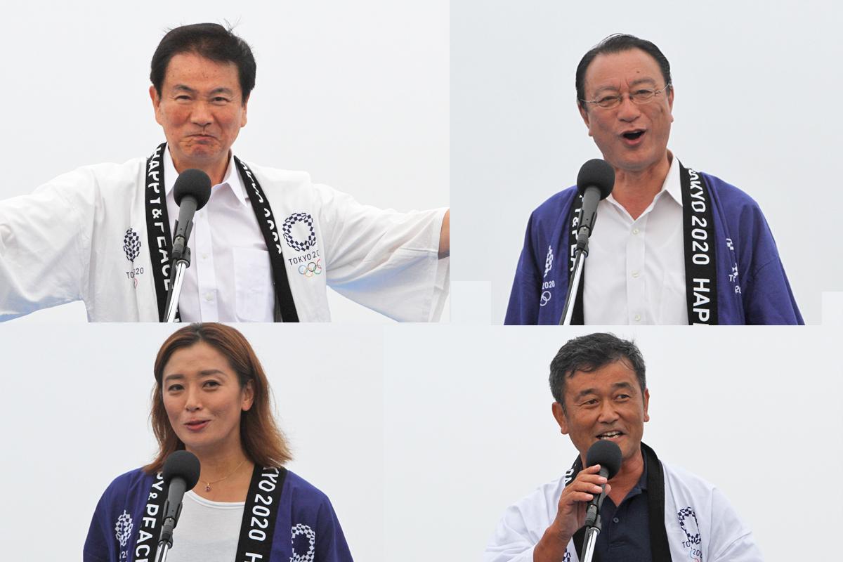 知事、一宮町長、伊藤華英氏、酒井厚志氏
