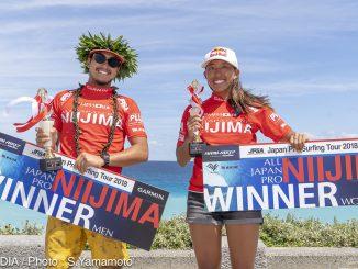 大橋海人と川合美乃里がJPSA「ALL JAPAN PRO 新島」で優勝