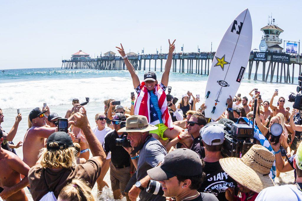優勝は怪我からの復活の狼煙を上げたコートニー・コンローグ (USA) © WSL / Rowland