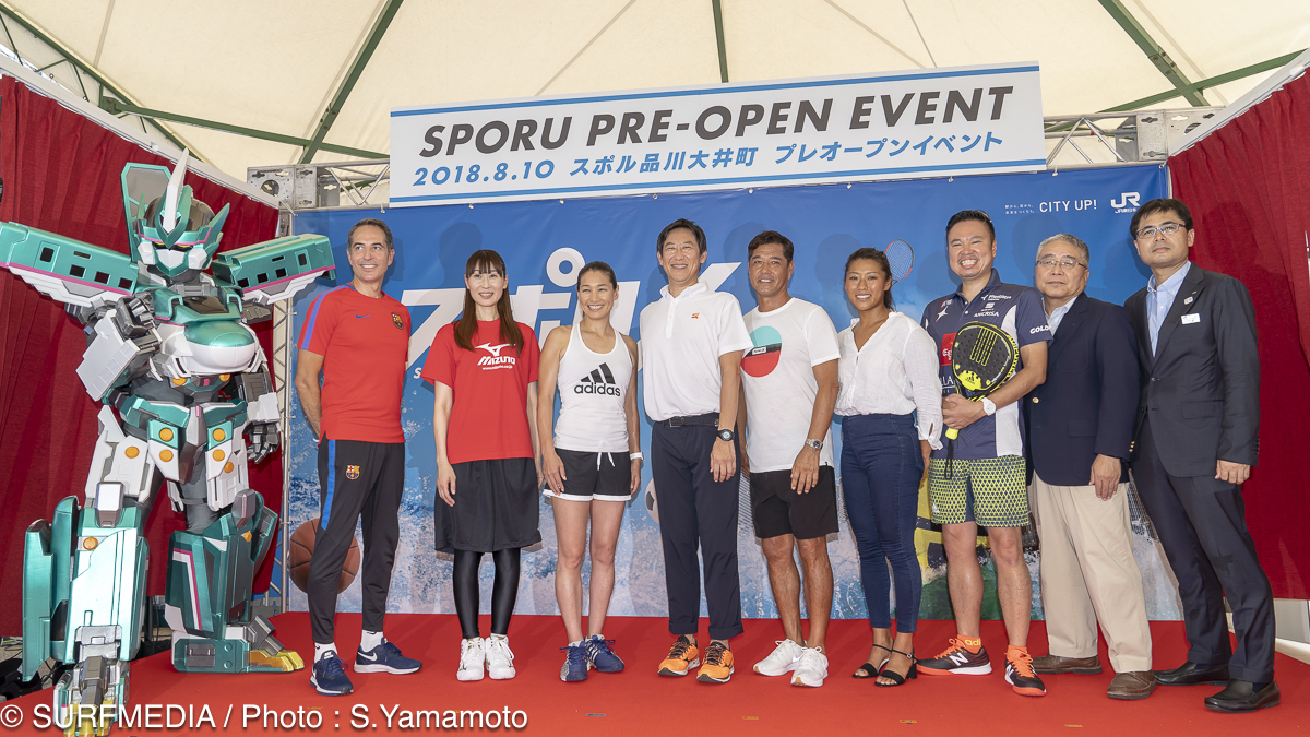 オープニングセレモニーにはテニスの伊達公子さんをはじめ、糟谷修自、 前田マヒナも参加。