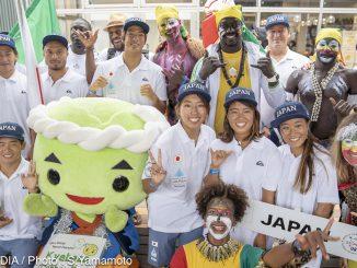 セネガルチームと日本チーム