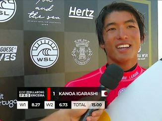 1位でラウンド3へ勝ち進んだカノア