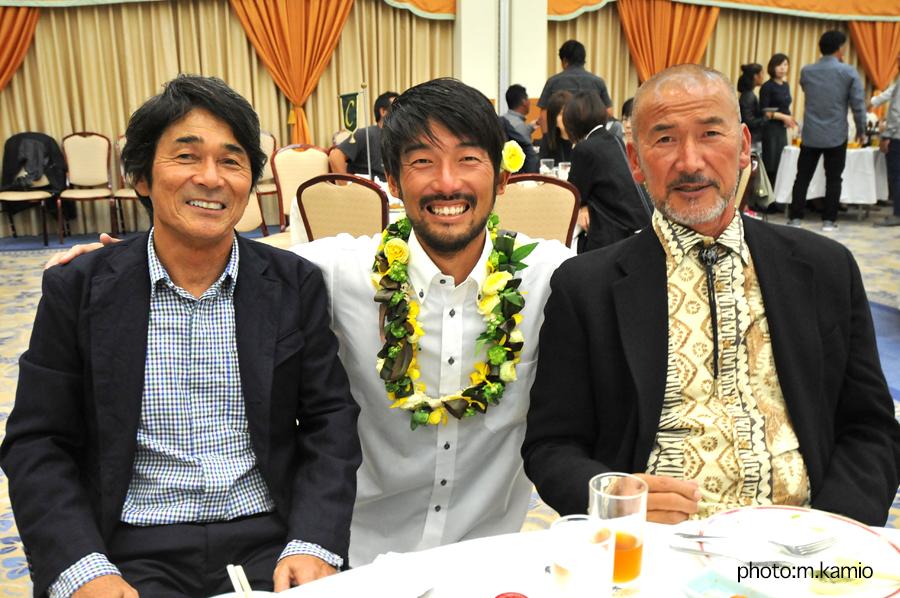 千葉公平氏と藤沢譲二氏に感謝の気持ちを伝えた田中樹