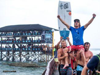 スキップ・マッカローがQS初優勝 © WSL/ Tom Bennett