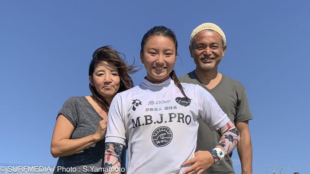 一番の応援団をご両親。松田詩野