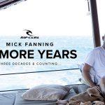 3Xワールドチャンピオンのミック・ファニングが、50周年を迎えるリップカールとの終身契約を発表