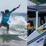 サーフィンの日本一を決定する「第1回ジャパンオープンオブサーフィン」が釣ヶ崎海岸で開幕。