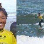 田岡なつみがメインラウンド4回戦進出。浜瀬海はリパチャージ4へ。ISAロングボード世界選手権4日