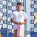 ジュニアオープン選手権大会のジュニアで上山キアヌ久里朱、ボーイズ矢作紋乃丞、ガールズ中塩佳那が優勝。