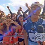 【速報!】五十嵐カノアがブラジルで開催中のCT第5戦でクオーターファイナルへ勝ち上がり、ベスト8進出。