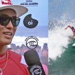 五十嵐カノア、ベスト16進出。WSL男女CT第5戦「Oi リオ・プロ」大会2日目の男子R32ハイライト映像