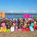 第二回ボディボード普及イベント「親子で初めてのボディボード体験スクール」が千葉県いすみポイントで開催