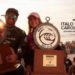 キャロライン・マークスとイタロ・フェレイラが MEO Rip Curl Pro Portugalで優勝。タイトルレースは男女共ハワイへ。