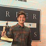 松岡慧斗が2019年サーファー・アワードで日本人として初の「THE BEST BARREL AWARDS」を受賞