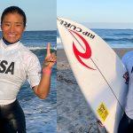 第28回ジュニアオープンサーフィン選手権大会・ガールズで中塩佳那が2連覇。ジュニアで村田嵐が優勝。