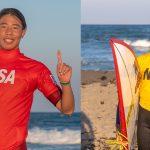 第28回ジュニアオープンサーフィン選手権大会・ボーイズで千葉東の岩見天獅。キッズで茅ヶ崎の岡野漣が圧勝。