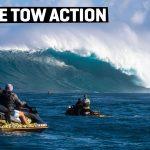 今シーズン最大のスーパースウェル・サタデイとなった1月16日。ハワイ・マウイ島のJAWSの超巨大波でトーイン・セッション映像