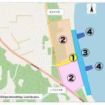 東京2020オリンピック・サーフィン競技開催に向けた会場整備に伴う、釣ヶ崎海岸広場等の利用規制について