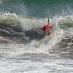 都筑有夢路が記者会見で「CTで自分のサーフィンにスコアをもらえたことが凄く自信になった」とコメント。