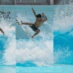 開幕まで10日。大原洋人、前田マヒナ、都筑有夢路の東京五輪日本代表選手が「静波 SURF STADIUM」で公開練習